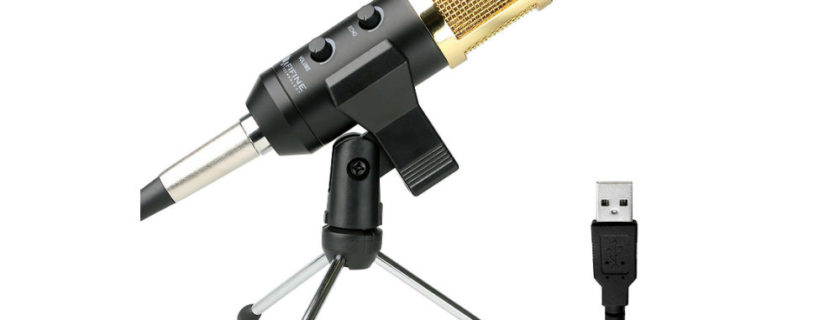 USB Condenser Mic Fifine Plug & Play Desktop Microphones For PC/Computer (Windows, Mac, Linux OS), Podcasting, Recording-White(K056) Review